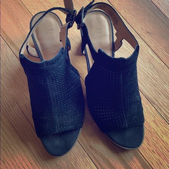 Franco Sarto Shoes - Black peep toe Sandals